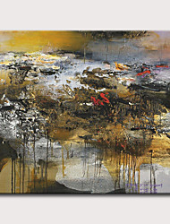 cheap -Oil Painting Hand Painted - Abstract Landscape Classic Modern Rolled Canvas