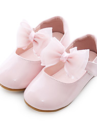 cheap -Girls' Comfort / Flower Girl Shoes / Children's Day PU Flats Toddler(9m-4ys) Bowknot White / Light Pink Spring / Fall / Party & Evening / Rubber