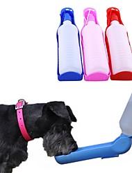 cheap -Dog Pets Bowls & Water Bottles / Feeders 0.5 L Plastic Portable Outdoor Travel Color Block Lolita Random Color Bowls & Feeding