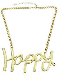 Недорогие -Жен. Ожерелья с подвесками X Буквы Уникальный дизайн Мода Первоначальные ювелирные изделия Хром Золотой 49 cm Ожерелье Бижутерия 1шт Назначение Повседневные Свидание