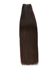 Недорогие -1 комплект Бразильские волосы Вытянутые человеческие волосы Remy 110 g Уход за волосами Удлинитель Накладки из натуральных волос 14 дюймовый Нейтральный Ткет человеческих волос / Природные волосы