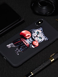 cheap -Case For Apple iPhone XS / iPhone XR / iPhone XS Max Frosted / Pattern Back Cover Cat / Animal Soft TPU