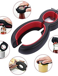 cheap -Multi Function 6 in 1 5-in-1 Bottle Opener All in One Gripper Can Wine Beer Lid Twist Off Jar Red