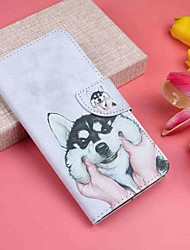 cheap -Case For Motorola MOTO G6 / Moto G6 Plus Wallet / Card Holder / with Stand Full Body Cases Dog Hard PU Leather