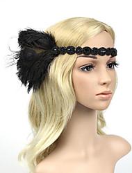 "cheap -Headbands Hair Accessories Gemstone & Crystal / Feathers Wigs Accessories Unisex 1 pcs pcs 7 7/8"" (20 cm) cm Festival Folk Style Cute"