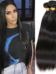 cheap -4 Bundles Brazilian Hair Natural Straight Remy Human Hair Natural Color Hair Weaves / Hair Bulk Extension Bundle Hair 8-28inch Natural Color Human Hair Weaves Dancing Silky Fashion Human Hair