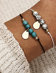 cheap -Women's Bead Bracelet Pendant Bracelet Double Layered Pear Simple Classic Vintage Stone Bracelet Jewelry Blue For Daily Street Work