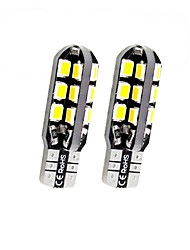 cheap -SENCART 2pcs T10 / BA9S / BAX9S Motorcycle / Car Light Bulbs 3 W SMD 2838 160 lm 24 LED License Plate Lights / Turn Signal Lights / Interior Lights For Volkswagen / Toyota / Buick Q5 / Mondeo / Tiguan