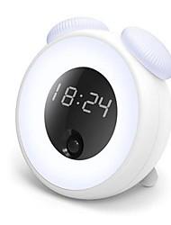 cheap -1pc Alarm Clock Smart Night Light Warm White DC Powered Smart / Human Body Sensor 5 V