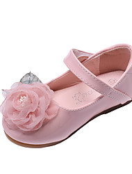 cheap -Girls' Comfort / Flower Girl Shoes Microfiber / PU Flats Toddler(9m-4ys) Flower White / Pink Spring / Fall / Party & Evening