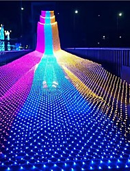 cheap -1.5m*1.5m 3*2m String Lights Warm White Cold White Multi Color Waterproof Party Christmas Wedding Decoration 100-240V