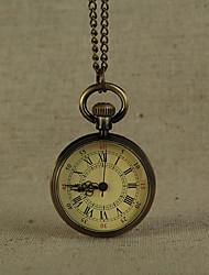 cheap -Men's Pocket Watch Quartz Bronze Casual Watch Cool Analog Vintage Minimalist - Bronze