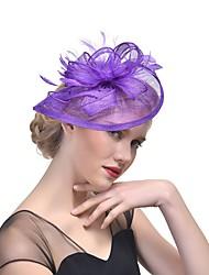 cheap -Women's Fascinators For Prom Princess Fabric Purple Blushing Pink Fuchsia