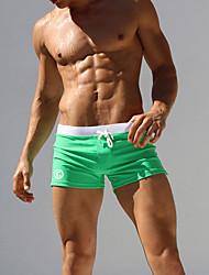 abordables -Homme Vert Noir Marine Jambe de garçon Bas Maillots de Bain - Géométrique L XL XXL Vert / Sexy