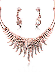 cheap -Women's Cubic Zirconia Drop Earrings Pendant Necklace Classic Vintage European Elegant Earrings Jewelry Gold For Party Ceremony Festival 3pcs / pack