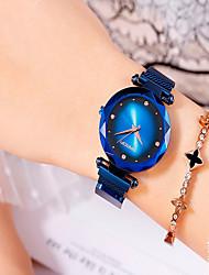 cheap -Women's Bracelet Watch Fashion Elegant Black Blue Purple Stainless Steel Quartz Black Purple Rose Gold Water Resistant / Waterproof Analog