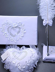 cheap -Wedding Guest Book / Pen Set / Ring Pillow 53 Feather / Lace Lace / Nonwovens