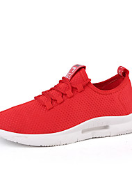 cheap -Men's Comfort Shoes Mesh Spring & Summer / Fall & Winter Sporty / Casual Athletic Shoes Running Shoes Breathable Black / White / Red