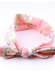 cheap -Toddler Girls' Basic / Sweet Striped Bow / Floral Style Acrylic Hair Accessories Orange / Pink / Beige One-Size