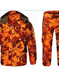 Недорогие -Муж. Куртка и брюки для охоты На открытом воздухе Осень Зима Сохраняет тепло С защитой от ветра Дышащий Износоустойчивый камуфляж Зимняя куртка Наборы одежды Хлопок