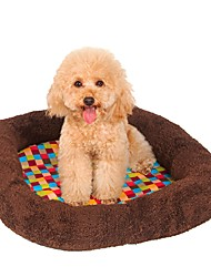 cheap -Dogs Cats Pets Mattress Pad Car Seat Cover Bed Bed Blankets Mats & Pads Fabric Cotton Portable Breathable Foldable Color Block Plaid / Check Patchwork Brown
