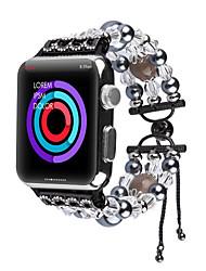 cheap -Handmade Women Jewery Bracelet Strap for Apple Watch Series 5/4/3/2/1 Agate Gemstone Wrist Band 38/40mm 42/44mm