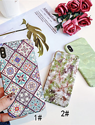 cheap -Case For Apple iPhone XS / iPhone XR / iPhone XS Max Glow in the Dark / Pattern Back Cover Plants Hard PC
