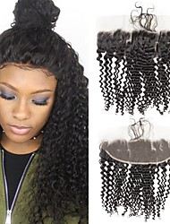cheap -1 Bundle Brazilian Hair Kinky Curly Virgin Human Hair Wig Accessories Hair Weft with Closure 8-20 inch Natural Color Human Hair Weaves Creative Stress and Anxiety Relief Hot Sale Human Hair Extensions