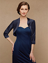 cheap -3/4 Length Sleeve Satin Wedding / Party / Evening Women's Wrap With Splicing Shrugs