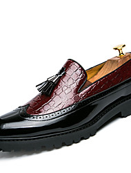 cheap -Men's Loafers & Slip-Ons Bullock Shoes British Party & Evening Leather White Black Red Spring & Summer Fall & Winter / Tassel / Tassel