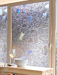 abordables -Film de fenêtre et autocollants Décoration contemporain / 3D Géométrique PVC Autocollant de Fenêtre / Antireflet