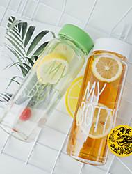 Недорогие -Бутылка для воды 500 ml PP Портативные для На открытом воздухе Путешествия 1 pcs Черный Желтый Синий Розовый