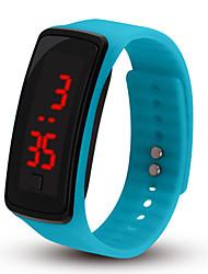Недорогие -Для пары Спортивные часы Цифровой Pезина Черный / Розовый / Небесно-голубой Нет ЖК экран Цифровой Мода - Синий Розовый Светло-синий Один год Срок службы батареи