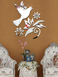 cheap -Decorative Wall Stickers - Mirror Wall Stickers Shapes Indoor