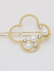cheap -Women's Party Active Cute Imitation Pearl Rhinestone Alloy Solid Colored