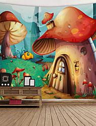 cheap -Garden Theme / Fairytale Theme Wall Decor 100% Polyester Modern Wall Art, Wall Tapestries Decoration
