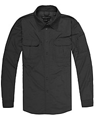 cheap -Men's Hiking Shirt / Button Down Shirts Long Sleeve Outdoor Multifunctional Lightweight Breathable Quick Dry Roll up Sleeves Shirt Top Autumn / Fall Spring Nylon Traveling Indoor Walking Grey Khaki