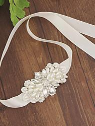 Недорогие -Полотняной атлас Свадьба Кушак С Пояс / Стразы Жен. Пояса и ленты