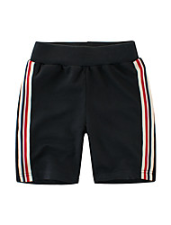 cheap -Toddler Boys' Striped Cotton Shorts Black