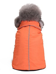 cheap -Dogs Coat Puffer / Down Jacket Winter Dog Clothes Black Orange Blue Costume Corgi Beagle Bulldog Terylene Solid Colored Casual / Daily Warm Ups XS M L XL XXL XXXL