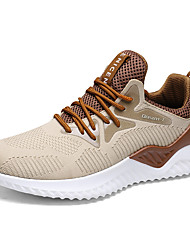 cheap -Men's Trainers Athletic Shoes Sporty Casual Daily Outdoor Mesh Breathable Non-slipping Shock Absorbing Black and White White Black Fall Winter