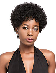 cheap -Wig Short Afro Curly Kinky Curly Pixie Cut Short Hairstyles 2020 Black African American Wig For Black Women Brazilian Hair Unisex Natural Black