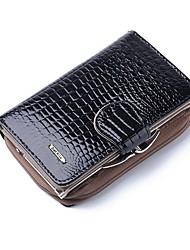 cheap -Women's Zipper PU Leather / Patent Leather Wallet Crocodile Black / Purple / Red