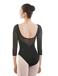 cheap -Ballet Leotards Women's Training / Performance Cotton / Elastane Split Joint 3/4 Length Sleeve Leotard / Onesie