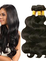 cheap -3 Bundles Brazilian Hair Body Wave Virgin Human Hair Headpiece Natural Color Hair Weaves / Hair Bulk Bundle Hair 8-28 inch Natural Color Human Hair Weaves Soft Best Quality Hot Sale Human Hair
