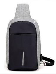 Недорогие -Муж. Молнии холст Слинг сумки на ремне Синий / Черный / Серый
