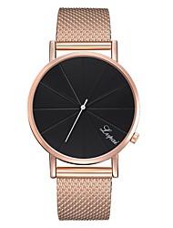 Недорогие -Жен. Часы-браслет золотые часы На каждый день Мода Черный Серебристый металл Розовое золото силиконовый Китайский Кварцевый Черный / серебряный Черный+Белый Розовое Золото Повседневные часы 1 ед.