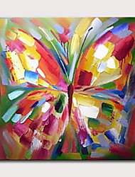 cheap -Oil Painting Hand Painted Abstract Pop Art Classic Modern Stretched Canvas With Stretched Frame