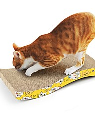 cheap -Scratching Board Cat Pet Toy 1pc Double-Sided Hollowed UltraLight Recycled Paper Gift
