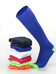 Недорогие -Муж. Жен. Спортивные носки Носки для велоспорта компрессия Носки Дышащий Противозаносный Мягкий Впитывает пот и влагу Поддерживает Черный Оранжевый + белый Голубой + оранжевый Лайкра Зима
